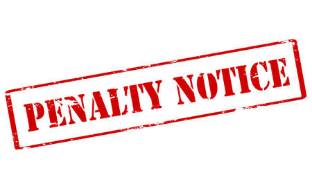 penalty: Rubber stamp with text penalty notice inside, vector illustration Illustration