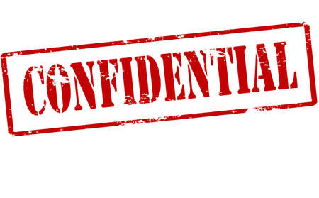 confidential: Rubber stamp with word confidential inside, vector illustration