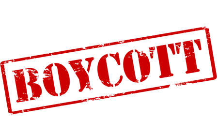 boycott: Rubber stamp with word boycott inside, vector illustration