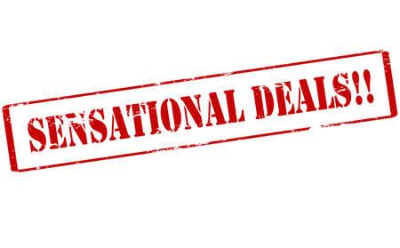 sensational: Rubber stamp with text sensational deals inside, vector illustration Illustration