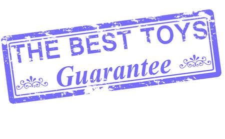 sponsorship: Rubber stamp with text the best toys inside, vector illustration