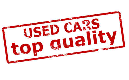 used: Rubber stamp with text used car inside, vector illustration