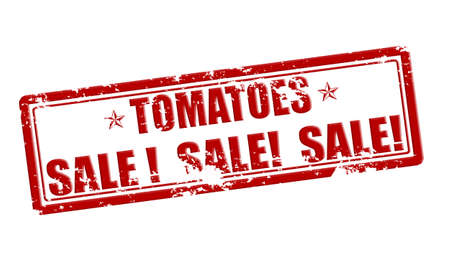 treason: Rubber stamp with text tomatoes sale inside, vector illustration