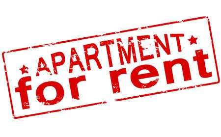 Rubber zegel met tekst appartement binnen, vector illustratie