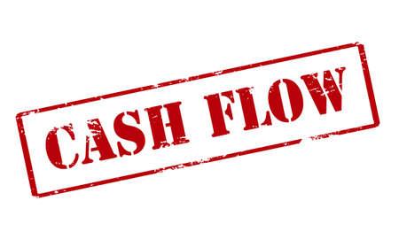 Rubber zegel met tekst cash flow binnen, vector illustratie