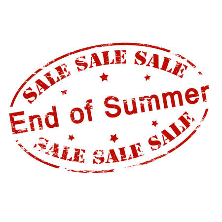 treachery: Rubber stamp with text sale end of Summer inside, vector illustration