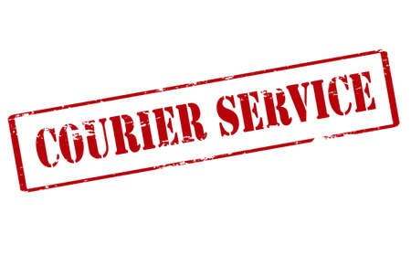 courier service: Rubber stamp with text courier service inside, vector illustration Illustration
