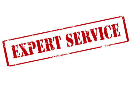 berth: Rubber stamp with text expert service inside, vector illustration