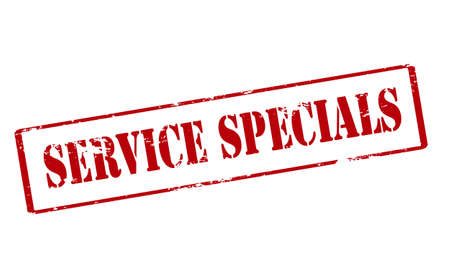 specials: Rubber stamp with text service specials inside, vector illustration