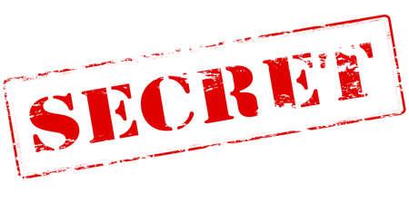 secret word: Rubber stamp with word secret inside, vector illustration Illustration