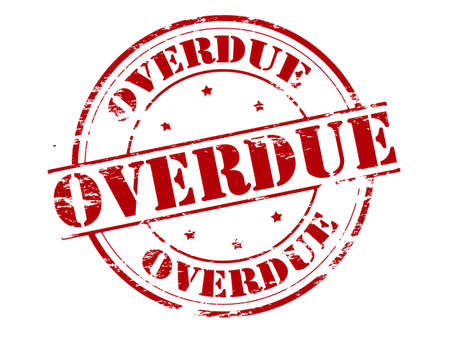 1 707 overdue stock vector illustration and royalty free overdue