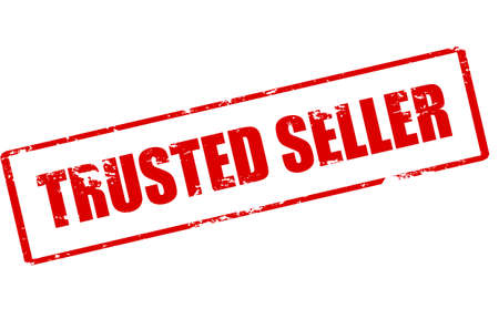 trusted: Rubber stamp with text trusted seller inside, vector illustration Illustration
