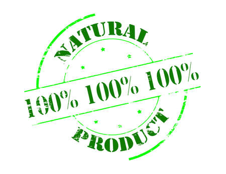 lifelike: Rubber stamp with text natural product inside, vector illustration Illustration