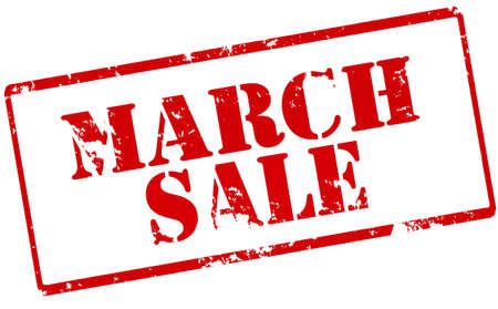 zdradę: Rubber stamp with text March sale inside, vector illustration