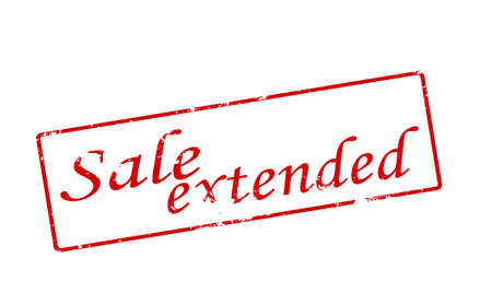 estendido: Rubber stamp with text sale extended inside, vector illustration