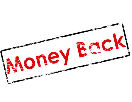 backwards: Rubber stamp with text money back inside, vector illustration