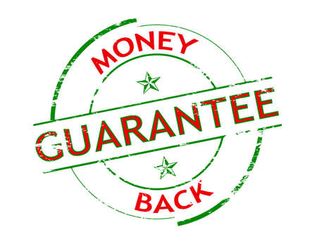 surety: Rubber stamp with text money back inside, vector illustration