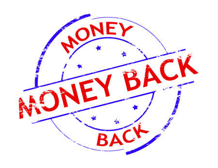 astern: Rubber stamp with text money back inside, vector illustration