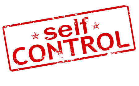 self control: Rubber stamp with text self control inside, vector illustration