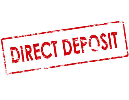 deposit: Rubber stamp with text direct deposit inside, vector illustration