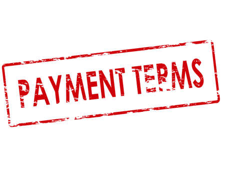 terms: Rubber stamp with text payment terms inside, vector illustration Illustration