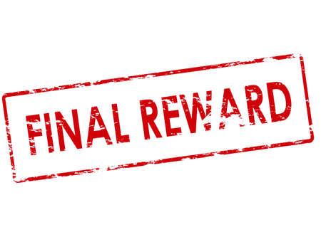 remuneraciones: sello de goma con el texto recompensa final en el interior, ilustraci�n vectorial