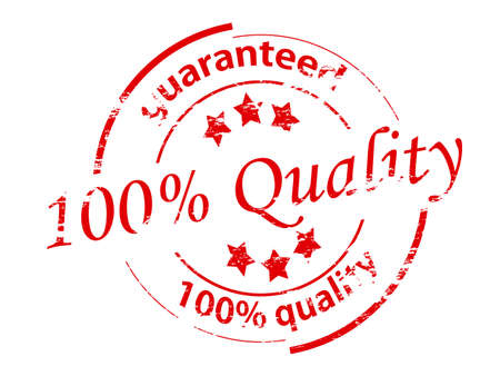 Rubber stamp with text guaranteed quality inside, vector illustration