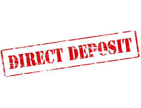 straightforward: Rubber stamp with text direct deposit inside, vector illustration