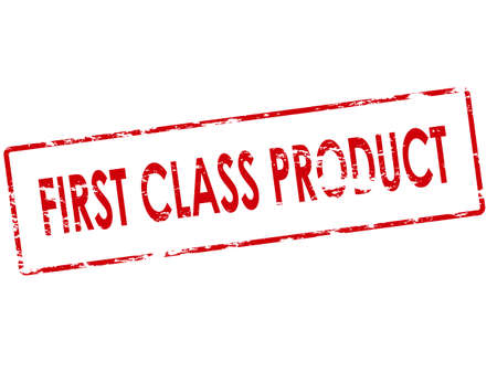 first class: Rubber stamp with text first class product inside, vector illustration Illustration
