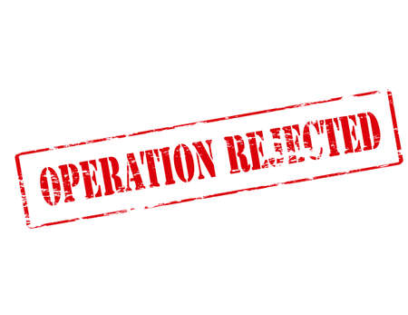 operation: Rubber stamp with text operation rejected inside, vector illustration