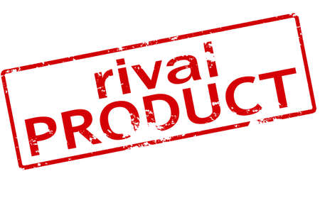 rival: Rubber stamp with text rival product inside, vector illustration Illustration