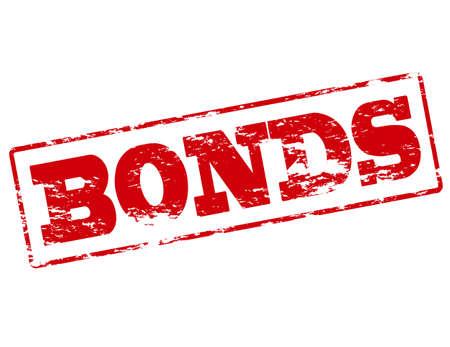 bonds: Rubber stamp with word bonds inside, vector illustration