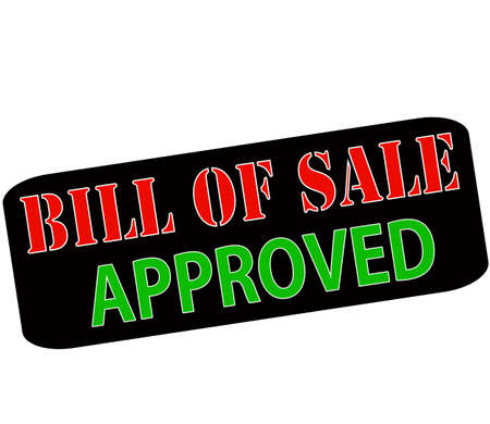 flimsy: Rubber stamp with text bill of sale approved inside, vector illustration