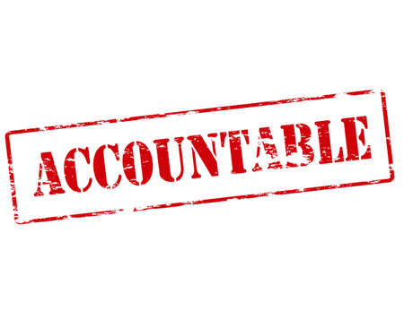 accountable: Rubber stamp with word accountable inside, vector illustration