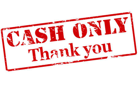 purely: Rubber stamp with text cash only thank you inside, vector illustration Illustration