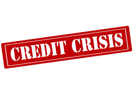 credit crisis: Rubber stamp with text credit crisis inside, vector illustration
