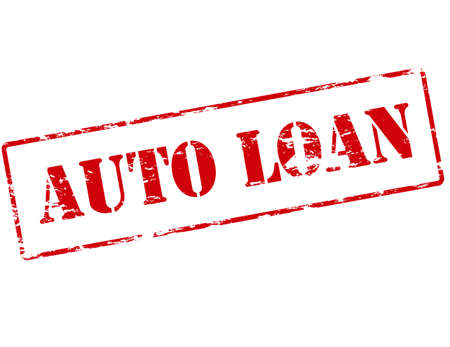 lending: Rubber stamp with text auto loan inside, vector illustration Illustration