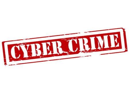 delito: Sello de goma con la delincuencia cibern�tica texto dentro de la ilustraci�n Vectores