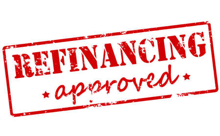 refinancing: Rubber stamp with text refinancing approved inside illustration Illustration