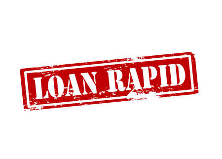 rapid: Rubber stamp with text loan rapid inside illustration