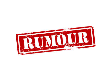 rumour: Rubber stamp with word rumour inside illustration