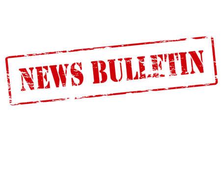 bulletin: Rubber stamp with text news bulletin inside illustration Illustration