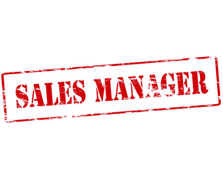 sales manager: Rubber stamp with text sales manager inside illustration