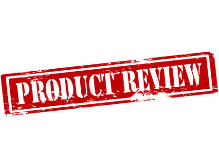 commodity: Rubber stamp with text product review inside illustration Illustration