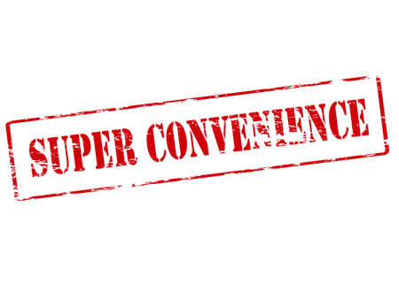comfortableness: Rubber stamp with text super convenience inside illustration Illustration