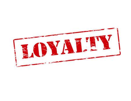fidelidad: Sello de goma con la lealtad de la palabra dentro de la ilustración Vectores
