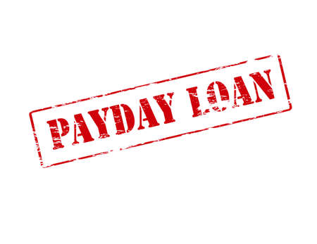 clearing: Rubber stamp with text be fair payday loan inside, vector illustration