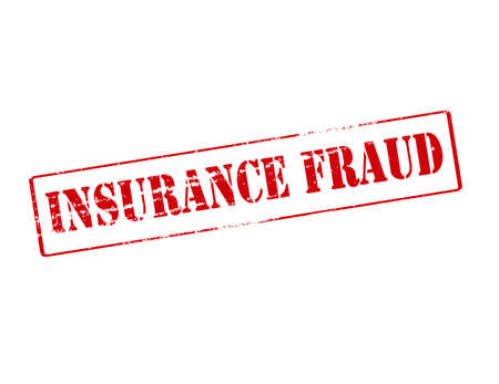 reassurance: Rubber stamp with text insurance fraud inside, vector illustration Illustration
