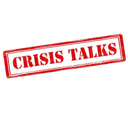 conversa: Sello de goma con el texto habla de crisis interior, ilustraci�n vectorial Vectores