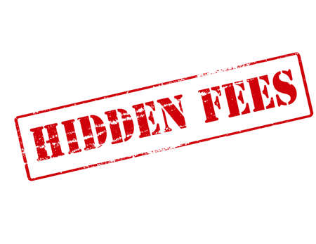 hidden fees: Rubber stamp with text hidden fees inside, vector illustration